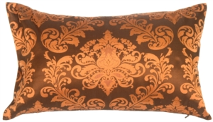 Damask in Copper Orange Silk