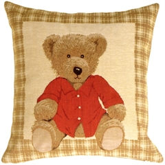 Hello Teddy Throw Pillow