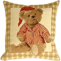 Sleepy Time Teddy Throw Pillow