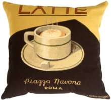 Marco Fabiano Collection Latte Coffee Throw Pillow