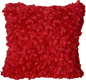 Secret Garden Red 18x18 Accent Pillow