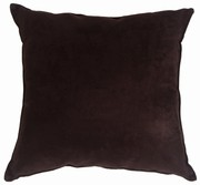 Passion Suede - Black Decorative Throw Pillow