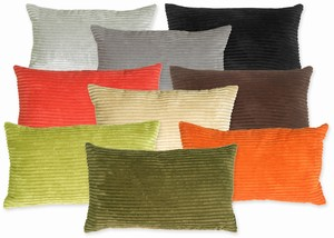 Wide Wale Corduroy 12x20 Throw Pillows
