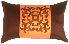 Ming Collection Ginger Orange Throw Pillow