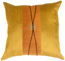 Chinese Coin Collection Olive Green Square Throw Pillow