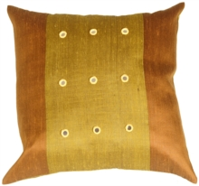 Reflections Olive Green Square Throw Pillow