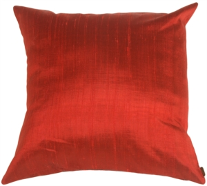 Saturna Silk - Red Accent Pillow