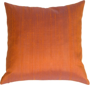 Saturna Silk - Copper Plum Accent Pillow