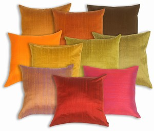 Saturna Silk Solid Color Accent Pillows