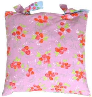 Aqua Lavender Floral Delight Decorative Pillow