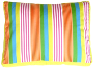 Electric Lemon Stripes Decorative Pillow