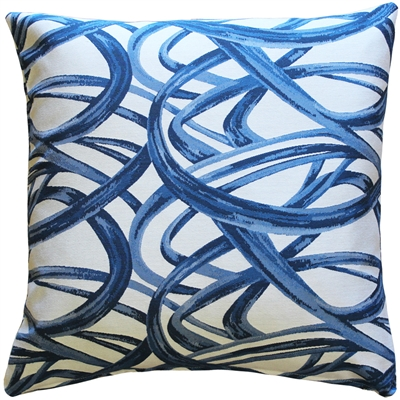 Flair 20x20 Blue Throw Pillow