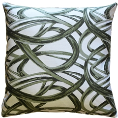 Flair 20x20 Green Throw Pillow