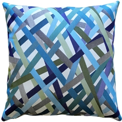 Streamline Blue 20x20 Throw Pillow