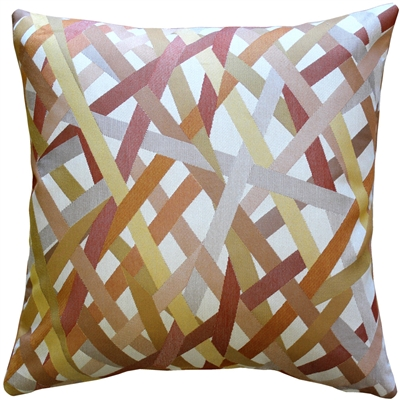 Streamline Orange 20x20 Throw Pillow