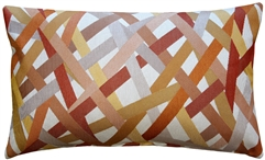 Streamline Orange 12x20 Throw Pillow