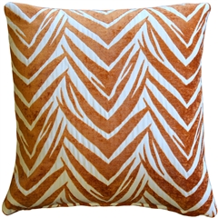 Samba Orange 20x20 Throw Pillow