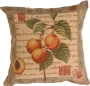 Global Peach Tapestry Decorative Throw Pillow