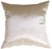 Metallic Silver Pillow