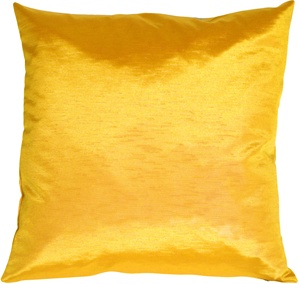 Metallic Sunflower Yellow Pillow