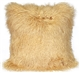 Mongolian Sheepskin Champagne Throw Pillow