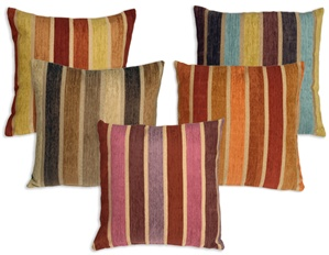 Savannah Stripes 20x20 Chenille Throw Pillows