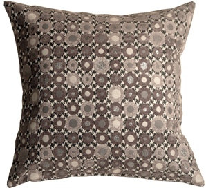 Houndstooth Spheres 18x18 Gray Throw Pillow
