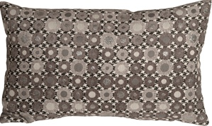 Houndstooth Spheres 12x20 Gray Throw Pillow