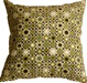 Houndstooth Spheres 18x18 Green Throw Pillow