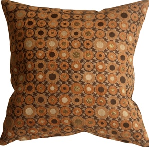 Houndstooth Spheres 18x18 Orange Throw Pillow