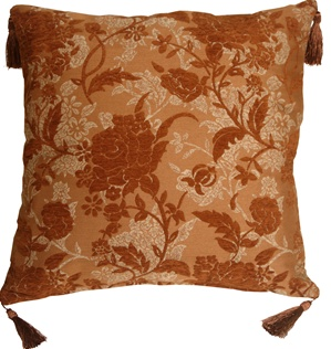 Traditional Floral in Rust 24x24 Decorative Pillow