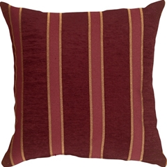 Traditional Stripes in Wine 16x16 Decorative Pillow
