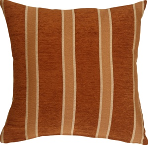 Traditional Stripes in Rust 16x16 Decorative Pillow