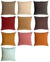 Arizona Chenille 16x16 Solid Color Throw Pillows