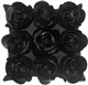 Felt Flowers in Black 17x17 Throw Pillow