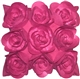 Felt Flowers in Pink 17x17 Throw Pillow