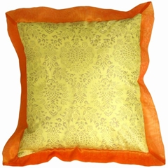 Bohemian Yellow Throw Pillow