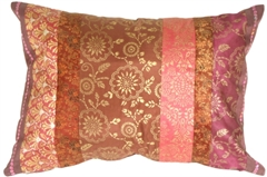 Silk Odyssey Plum Throw Pillow