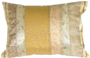 Silk Odyssey Gold Throw Pillow