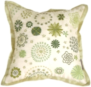 Floral Delight Cream Throw Pillow