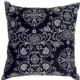 Delicate Floral on Black Small Accent Pillow