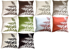 Bold Fern Throw Throw Pillows