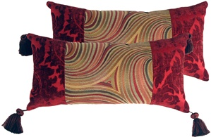 Multicolor Swirl Motif Decorative Pillow