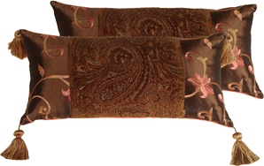 Pink and Paisley Decorative Pillow