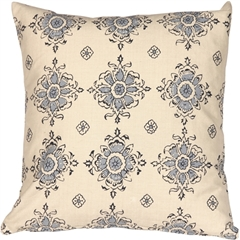 Medallion Handprint Lake 16X16 Throw Pillow