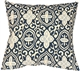 Alhambra Handprint Indigo 15x15 Throw Pillow