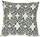 Alhambra Handprint Indigo 18X18 Throw Pillow