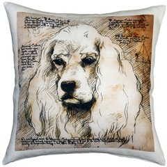 American Cocker Spaniel 17x17 Dog Pillow
