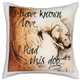 I Have Known Love Curled Lab 17x17 Dog Pillow