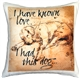 I have Known Love Sleeping Lab 17x17 Dog Pillow
